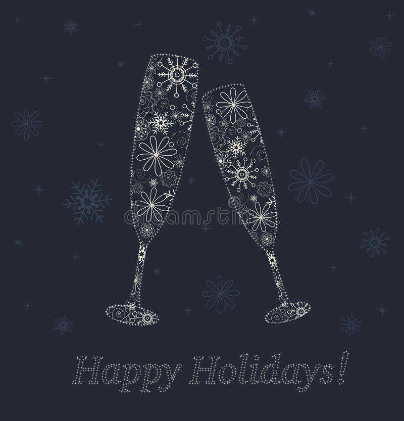 Download New Years glasses. stock vector. Illustration of poster - 27716379