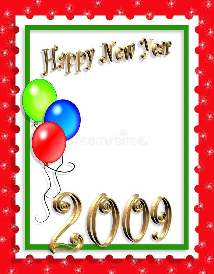 New Years Illustration background or invitation stock illustration
