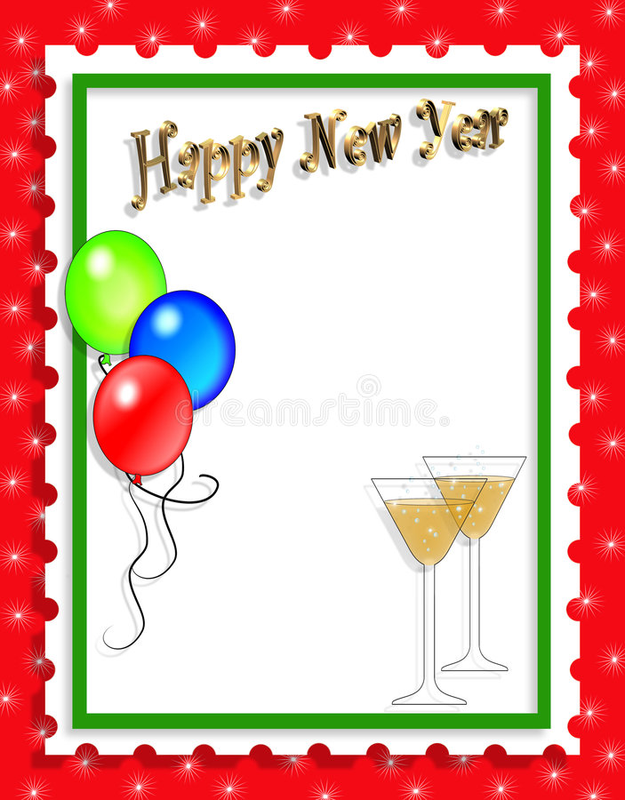 New Years Illustration background or invitation vector illustration