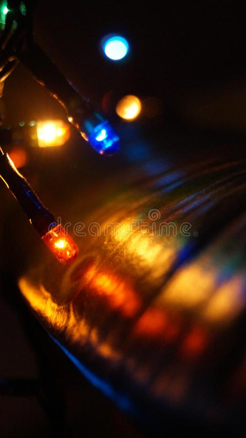 New Years lights in the night. royalty free stock photo