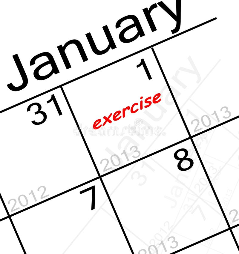 Download New years resolution stock illustration. Image of note - 28264210