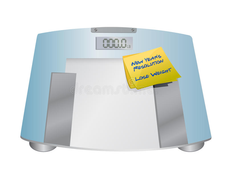 New years resolution lose weight. Illustration design graphic royalty free illustration