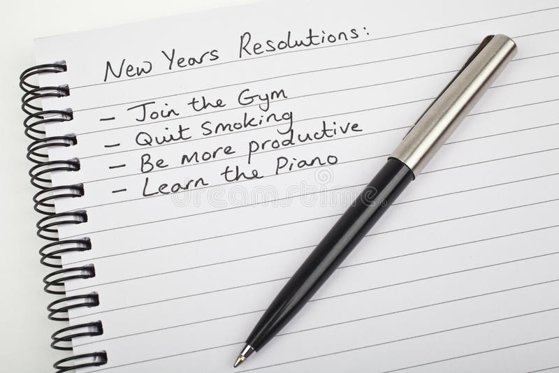 New Years Resolutions royalty free stock photo