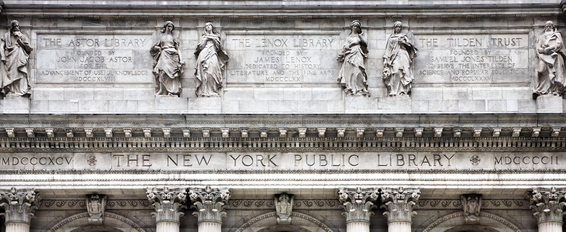 New- Yorköffentliche Bibliothek lizenzfreies stockfoto