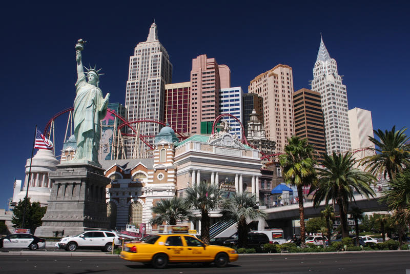 New York à Las Vegas photos stock