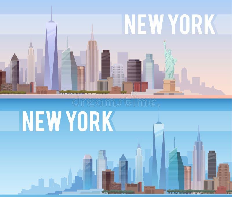 New York Знамена вектора иллюстрация штока