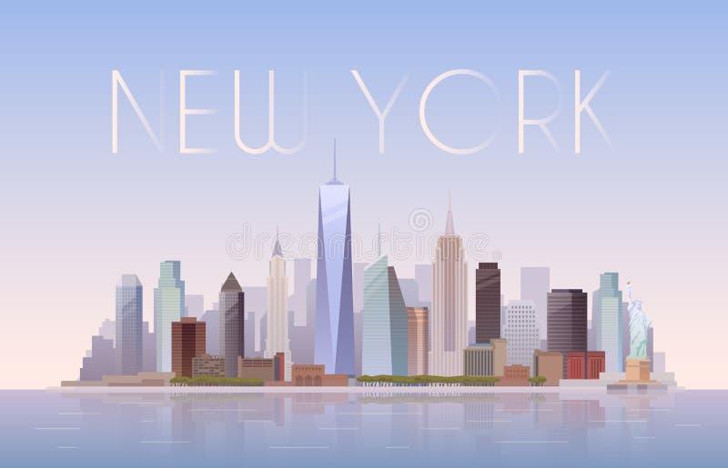 New York также вектор иллюстрации притяжки corel иллюстрация штока