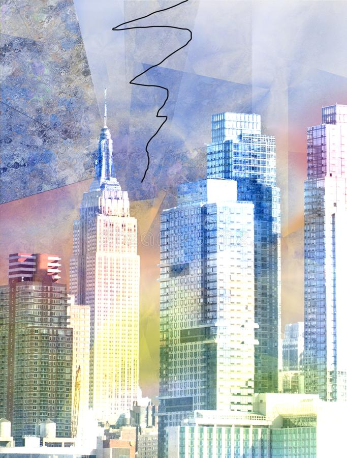 New York vektor abbildung