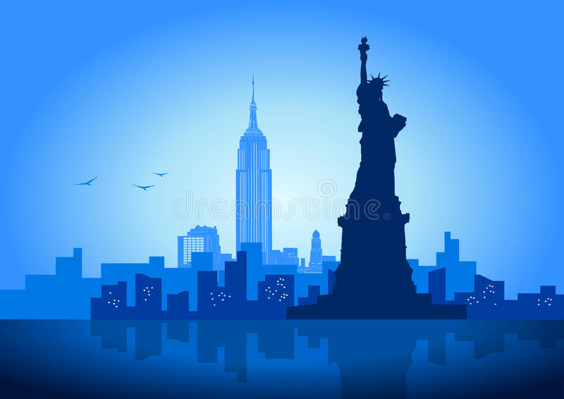 New York. A Vector illustration of New York City skyline
