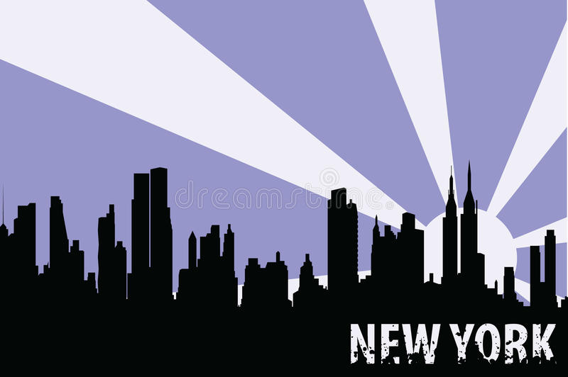 New York иллюстрация штока