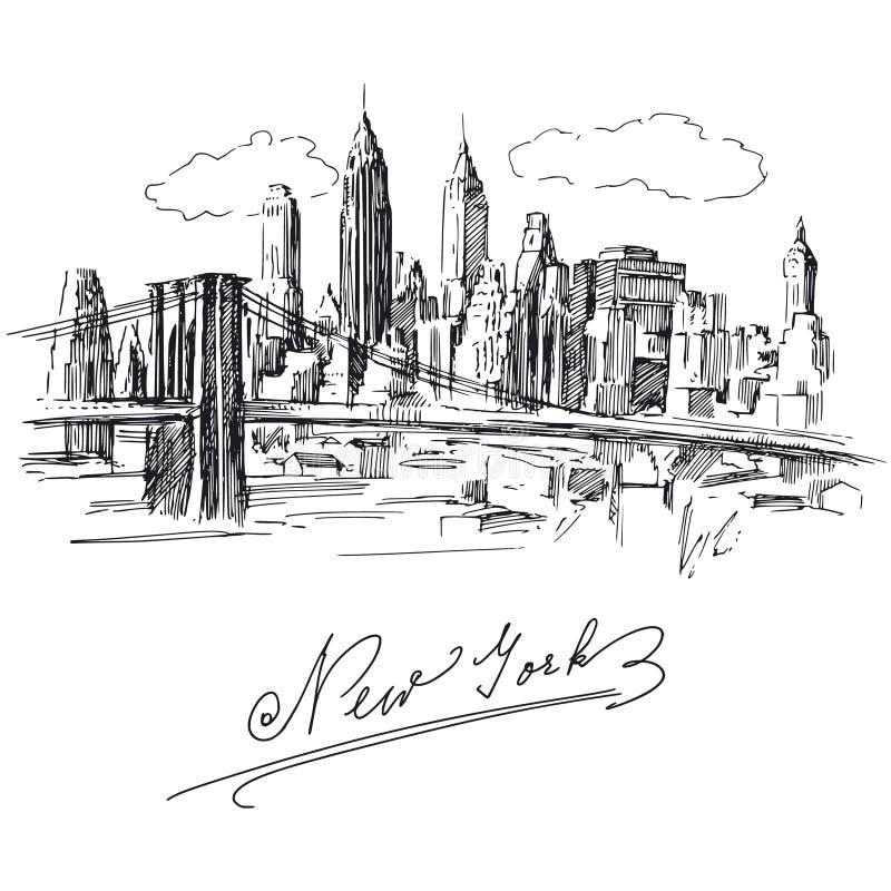 New York ilustração royalty free