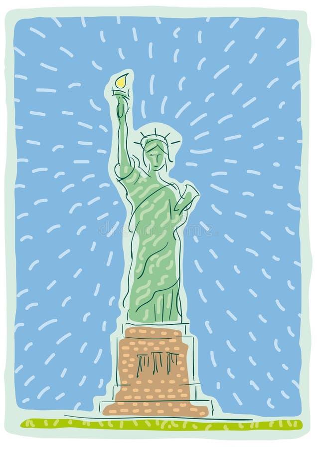 Download New York stock vector. Image of york, skyline, liberty - 24852030