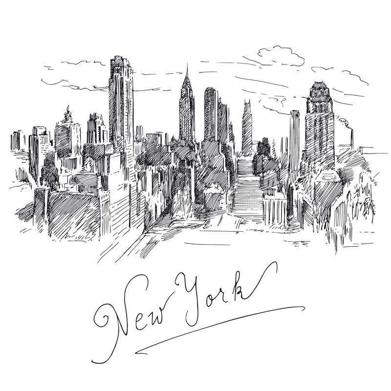 Download New York stock vector. Image of isolated, manhattan, background - 25447675