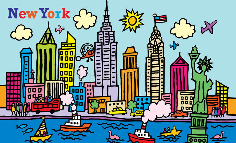 New York stock illustrationer