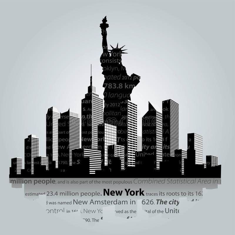 New York royaltyfri illustrationer