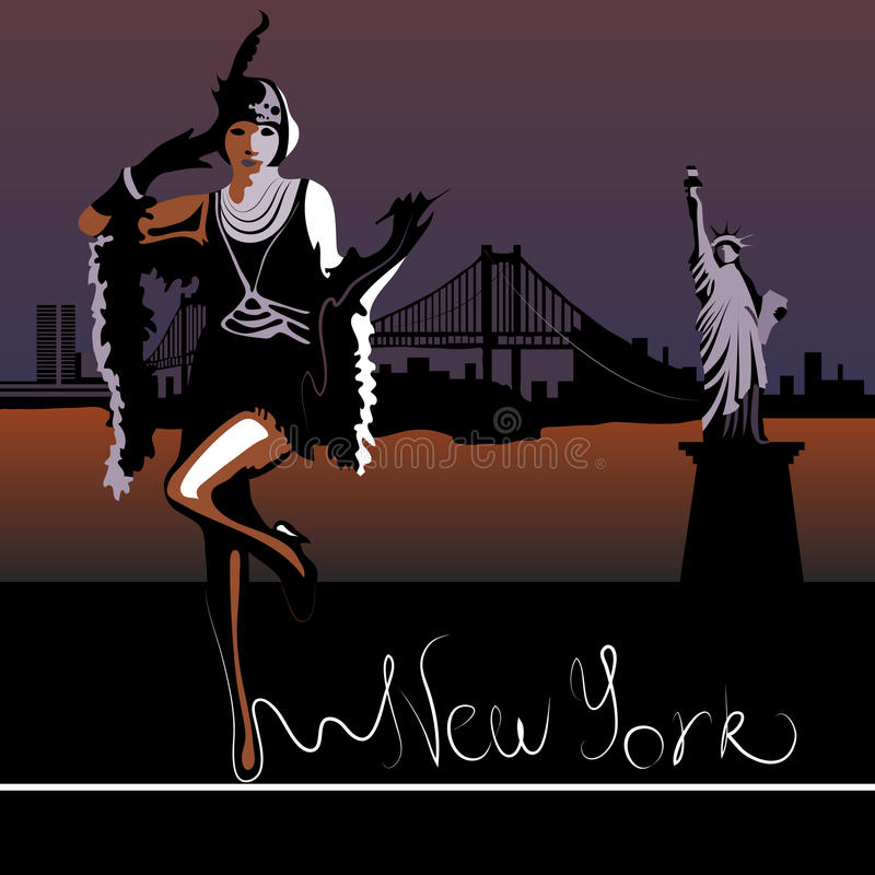 New York illustration libre de droits
