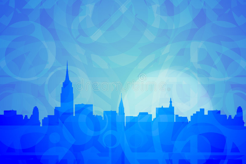New York Abstract Colors royalty free illustration