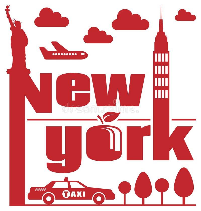 New York abstrakt begrepp vektor illustrationer