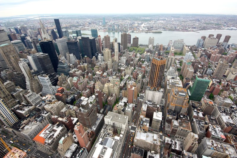 New York aerial view royalty free stock photography