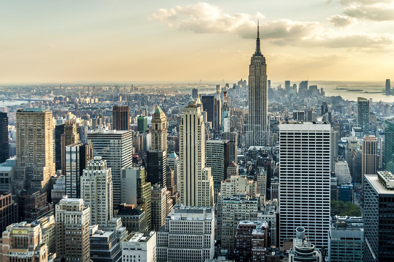 New York. Aerial view of New York city in the USA stock image