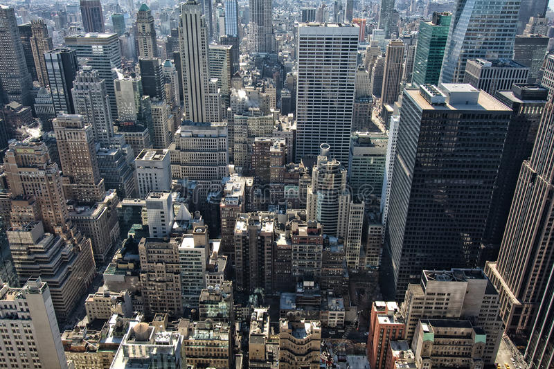 New York. Aerial view of Manhattan in New York city, USA royalty free stock photography