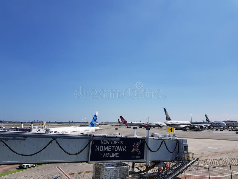 New York airport Terminal 5 stock images