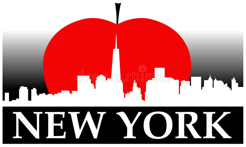 New York Apple grande ilustração stock