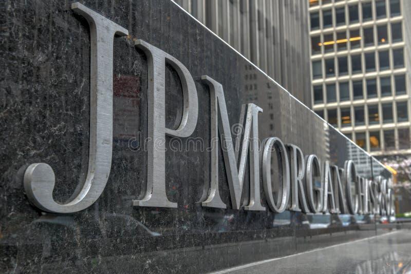 JP Morgan Chase - New York City royalty free stock photography