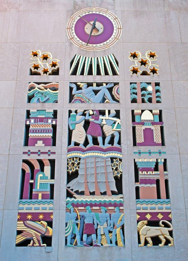 New York: Art- DecoUhr, Rockefeller-Mitte am 17. September 2014 stockfoto
