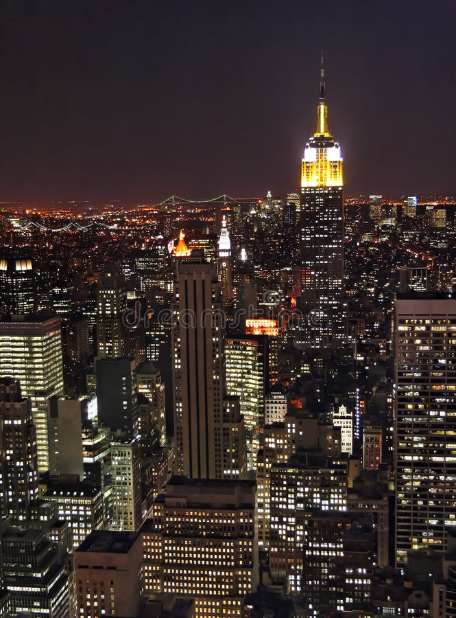 Free New York At Night Royalty Free Stock Photos - 702018