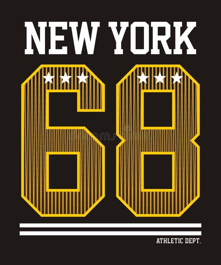 New York atlética ilustração do vetor