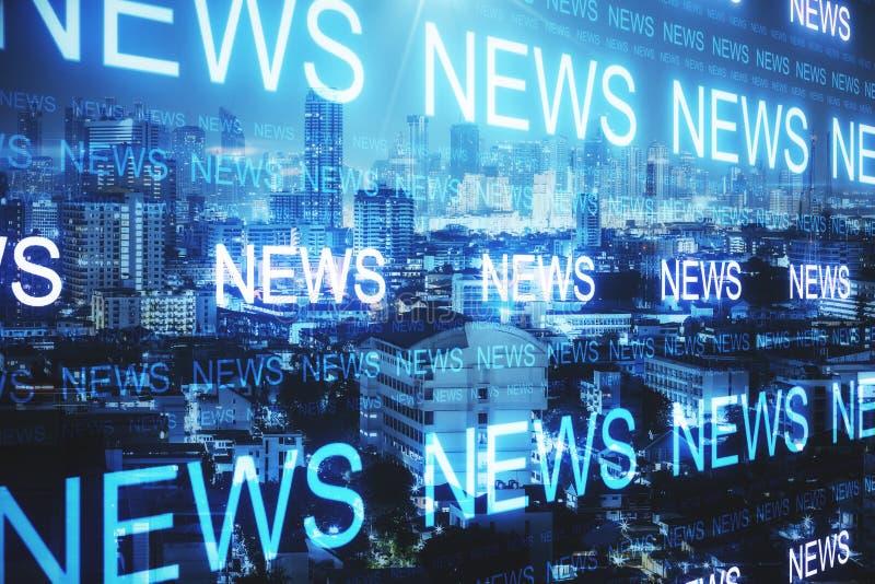 New York avec le papier peint de nouvelles illustration libre de droits