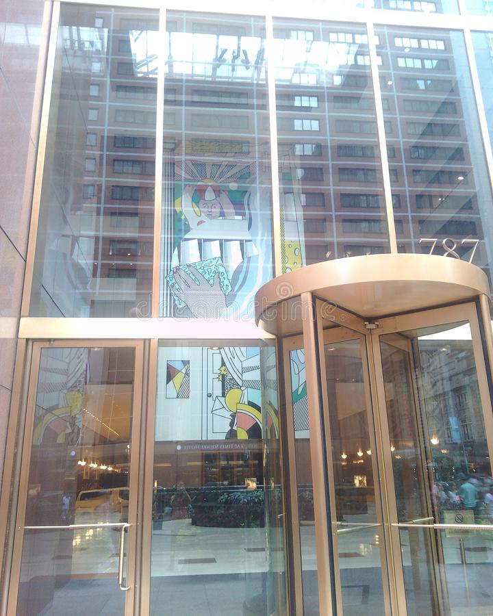 New York, bâtiments modernes image stock