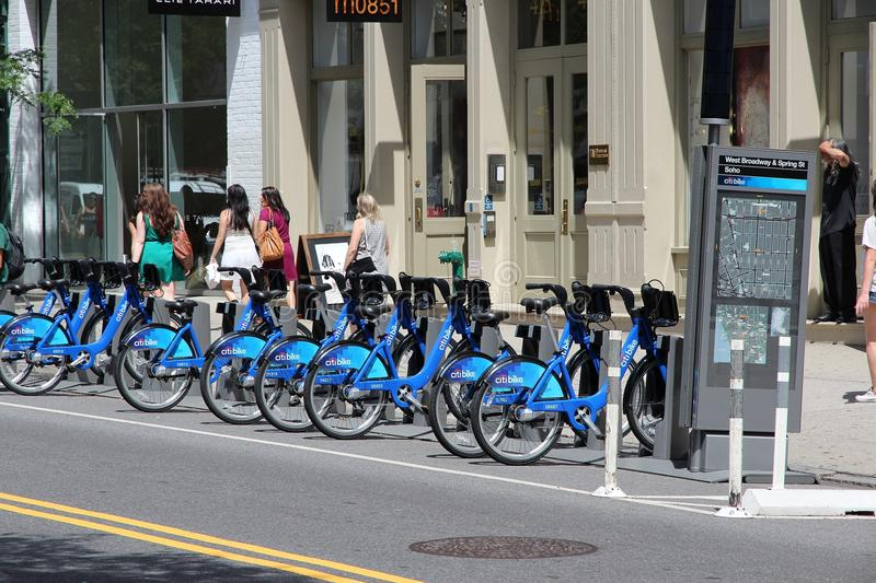 Download New York Bicycle Sharing Editorial Stock Image - Image: 32799979
