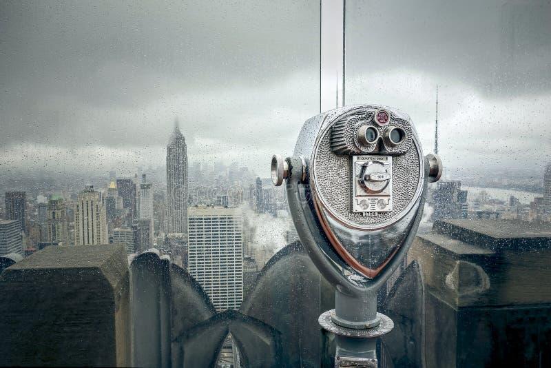 New York bij een regenachtige dag stock fotografie