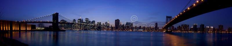 New York bij zonsondergang royalty-vrije stock afbeelding