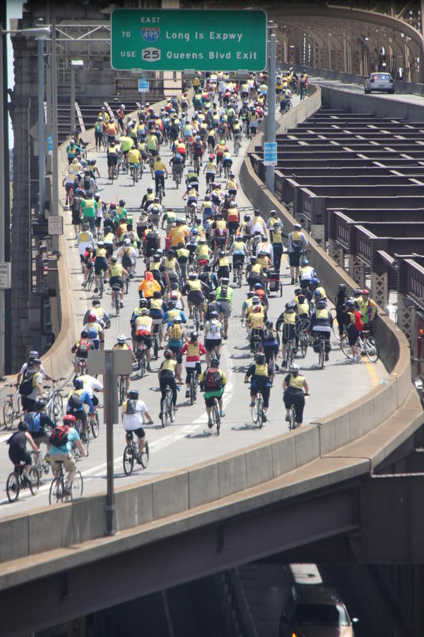 Download New York Bike Ride editorial photography. Image of scene - 19366442