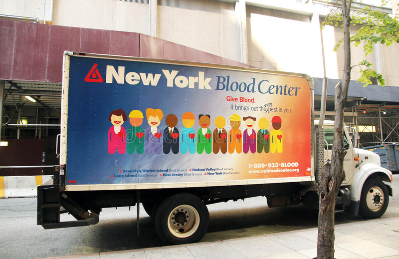 New York Blood center. stock images