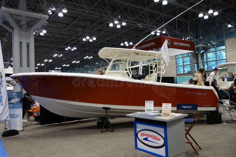 The 2014 New York Boat Show 91 stock photo