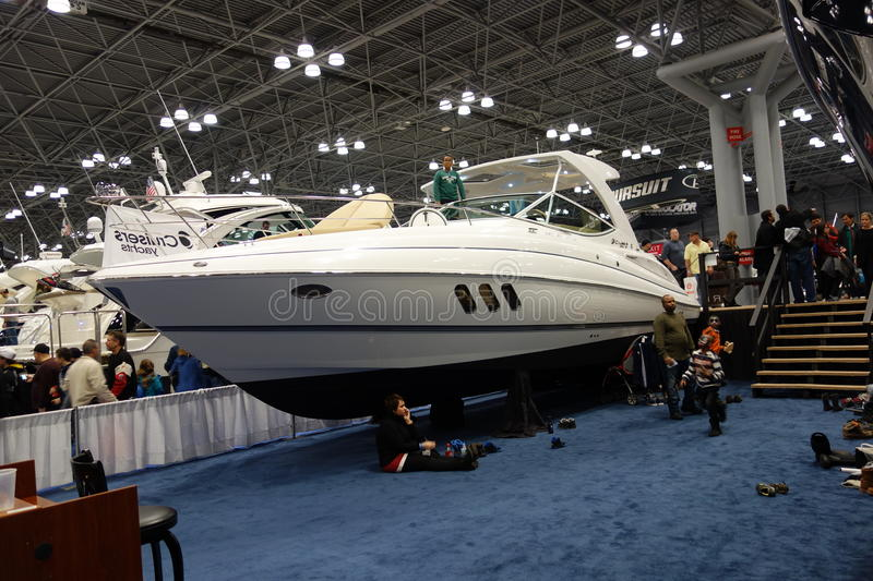 The 2014 New York Boat Show 96 stock photography