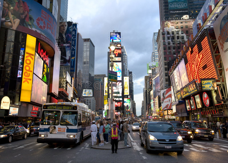 New York Broadway, photographie stock libre de droits