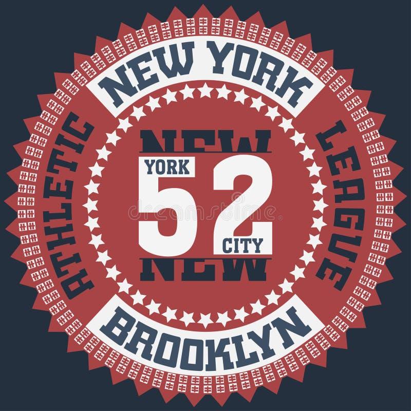 New York Brooklyn illustration stock