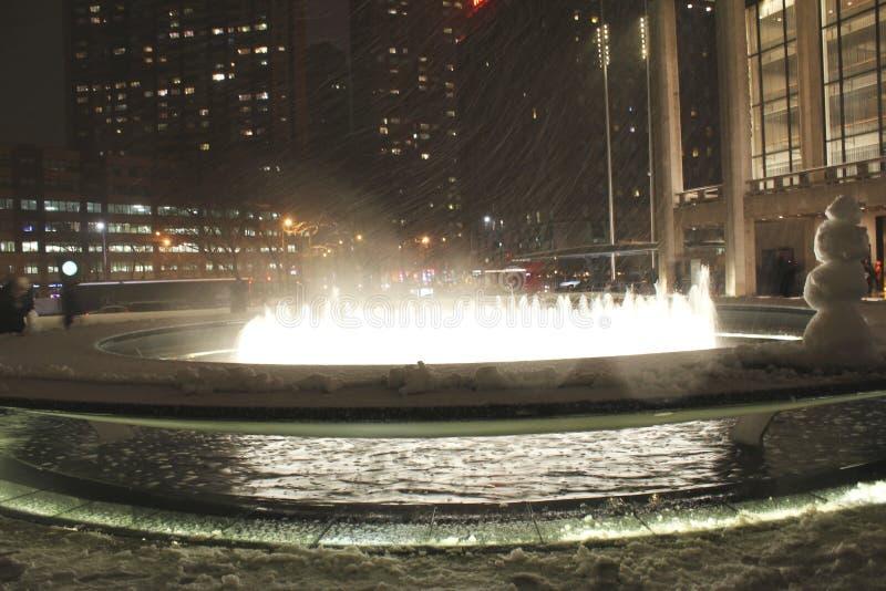 New York bufera di neve febbraio 2013 fotografia stock