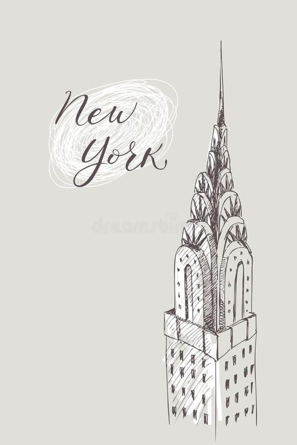 New York building Doodle set. American travel symbols in hand drawn sketch. Vector design. vector illustration