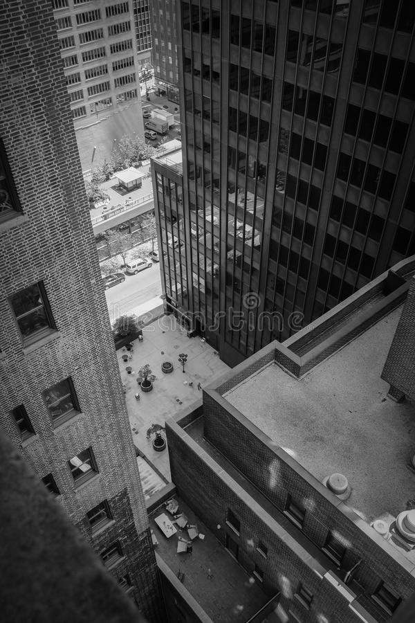 New York building view from above stock photography