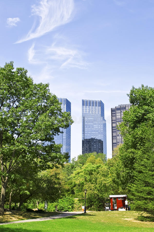New York buildings from Central Park stock photography
