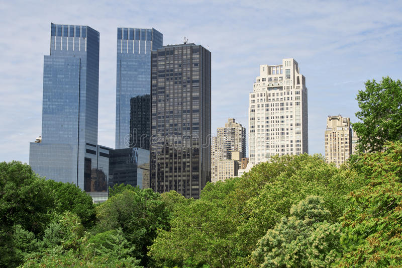 New York buildings from Central Park royalty free stock photos