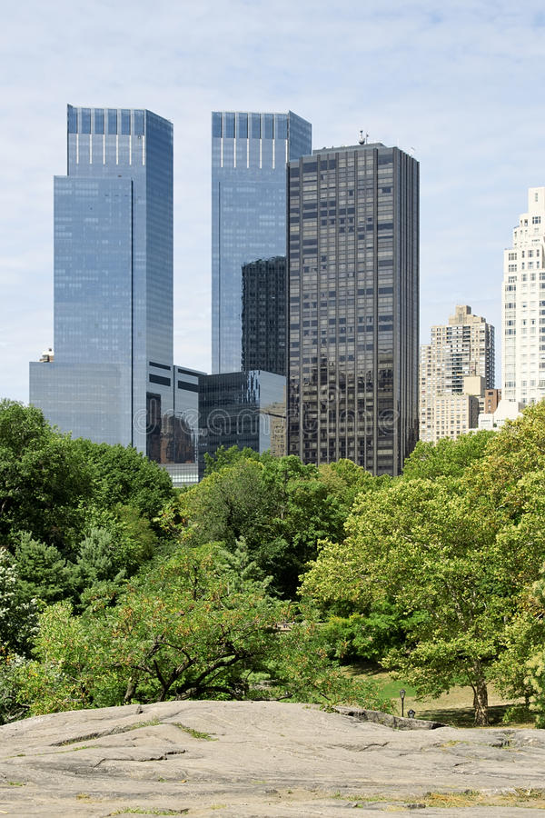 New York buildings from Central Park stock photos