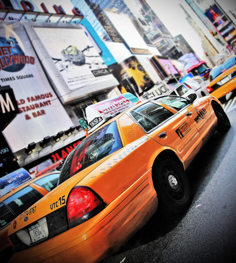 Download New York cab editorial photo. Image of manhattan, square - 12458276