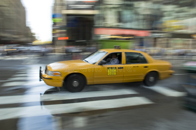 New York cab stock photography
